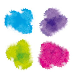 Multicolored splash powder abstract decoration vector