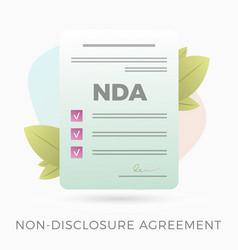Non-disclosure agreement icon vector