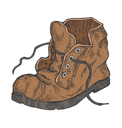 Old shabboot color engraving style vector