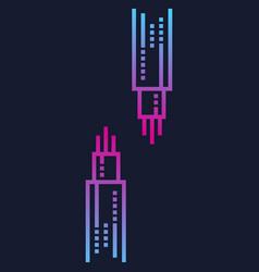 Optic fiber cables image vector