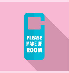 Please make up room hanger icon flat style vector