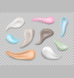 realistic 3d detailed body scrubs smears swatch vector image