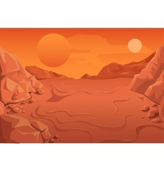 Red Planet Mars in space Space landscape vector image