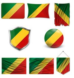 Republic congo flag vector