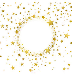 Round banner of gold stars vector
