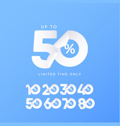 Sale up to 50 limited time only label tag vector