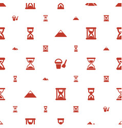 Sand icons pattern seamless white background vector