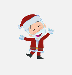Santa claus exulting in happiness vector