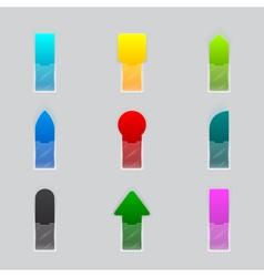 set colorful ribbon vector image
