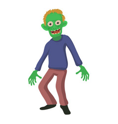 smiling zombie icon cartoon style vector image