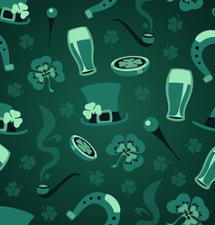 st patricks days green symbols pattern vector image