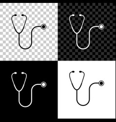 stethoscope medical instrument icon isolated on vector image