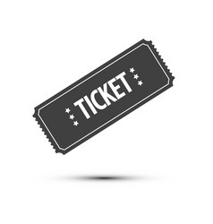 ticket icon isolated on white background vector image