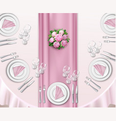wedding table set up vector image