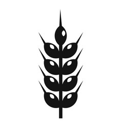 Wheat plant icon simple style vector