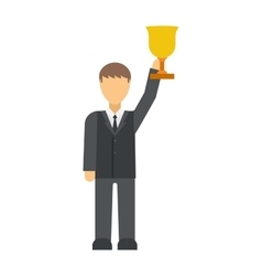 Winner businessman vector