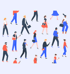 worker people pattern office characters and vector image