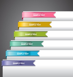 Bookmark Labels Ribbon vector image