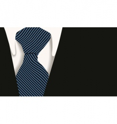 collar tie shirt business vector image vector image