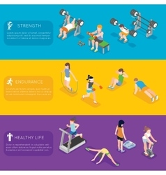 Fitness banners vector image vector image