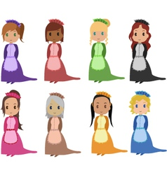 maids vector image vector image