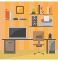 Modern office interior in flat design vector