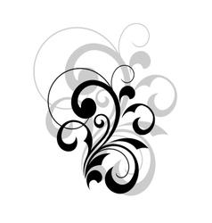 Stylish swirling calligraphic design element vector image vector image
