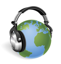 the world listening vector image vector image