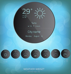 Weather widget template vector image