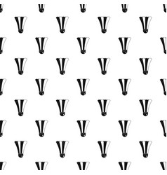 black and white shuttlecock pattern vector image vector image