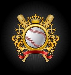 coat of arms baseball symbol vector image