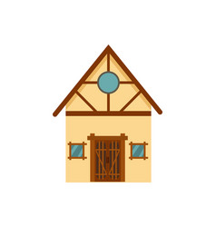 family house isolated icon vector image