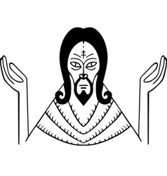 God vector image vector image