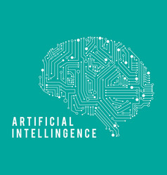 intelligence artificia brain vector image