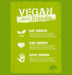 organic green vegan creative nature vector image