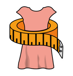 sewing tape measure with manikin vector image