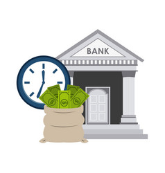 bank building economy icons vector image vector image