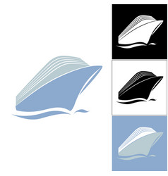 cruise liner logo vector image vector image