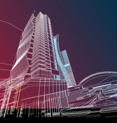 future building vector image vector image