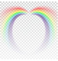 rainbow icon cartoon isolated white background vector image vector image