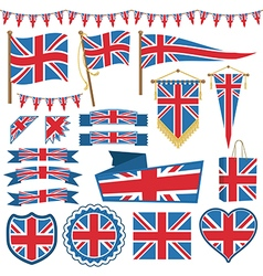 uk flag decorations vector image