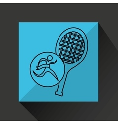 winner silhouette sport tennis icon vector image