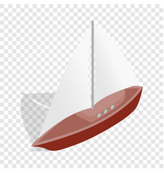 boat isometric icon vector image vector image