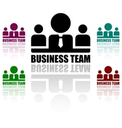 business team icons set vector image vector image