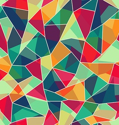 colored mosaic seamless pattern vector image vector image