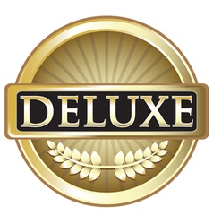 Deluxe Gold Label vector image