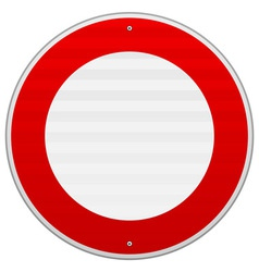 No Traffic Red Sign vector image vector image