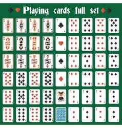 Playing cards full set vector