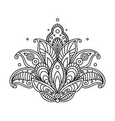 Pretty ornate paisley flower design element vector image