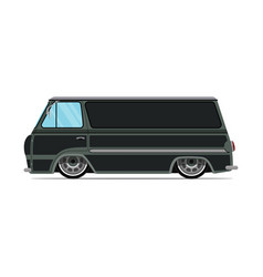 vintage green car green truck vector image